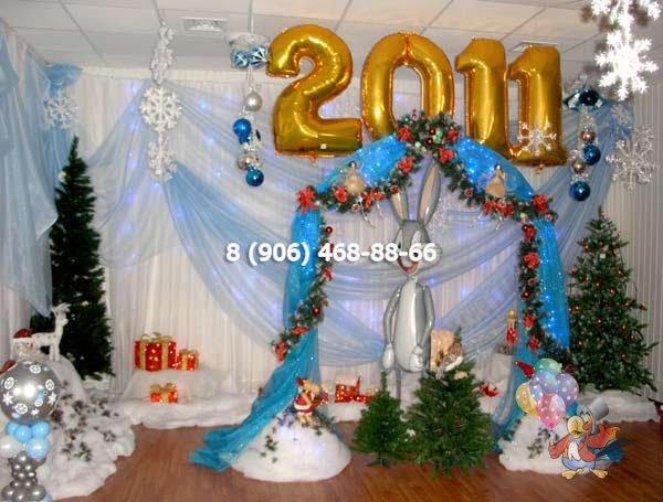 Оформление сцены на новый год своими руками